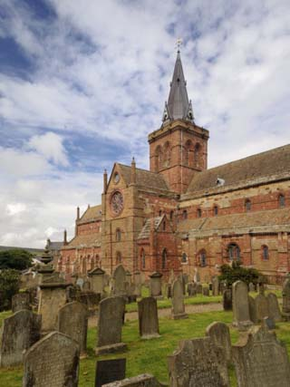 St. Magnus Cathedral in Kirkwall, Orkney Islands