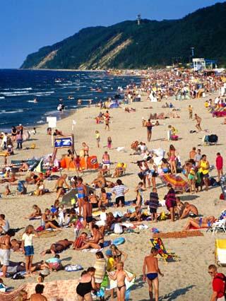 Baltic Beach Life in Poland, Miedzyzdroje, Zachodniopomorskie, Poland