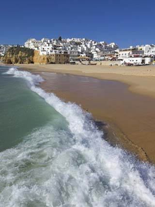 Fishermans Beach, Albufeira, Algarve, Portugal