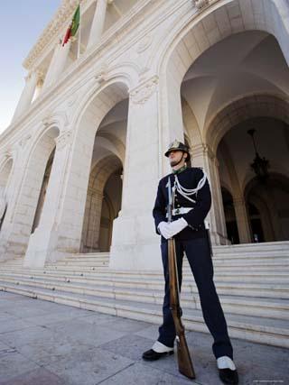 Guard at Palacio de Sao Bento, Sao Bento, Lisbon, Portugal
