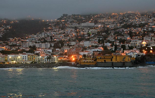 early morning harbor view funchal