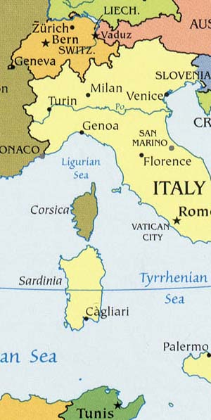 Sardinia Maps Including Outline And Topographical Maps