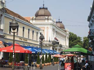 Outdoor Cafes on Kneza Mihailova Pedestrian Boulevard, Belgrade, Serbia