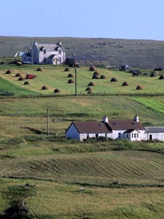 Good Example of Land Use, Burrafirth, Unst, Shetland Islands, Scotland, United Kingdom, Europe