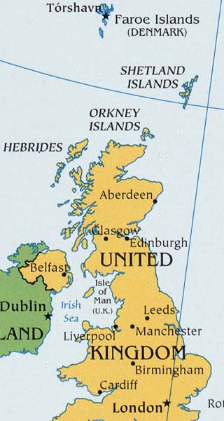 Shetland Islands map