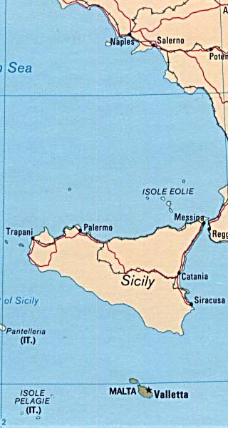 sicily maps including outline and topographical maps