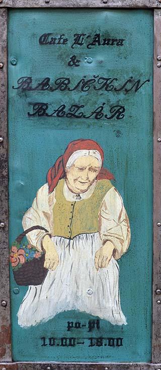 colorful sign in Bratislava