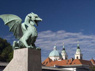 Dragon Bridge, Ljubljana, Slovenia, Europe