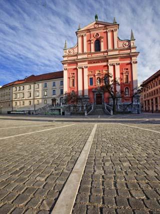 Church of Yhe Annunciation, Preseren Square, Ljubljana, Slovenia, Europe