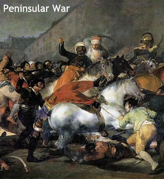 What happened in spain during the 1800s?