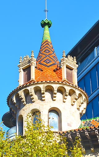 church spire barcelona