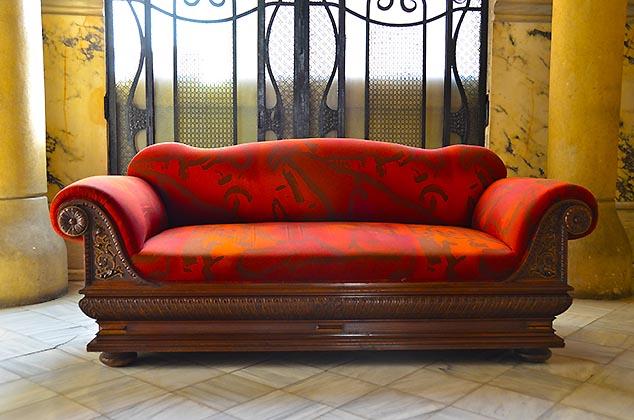 red sofa barcelona