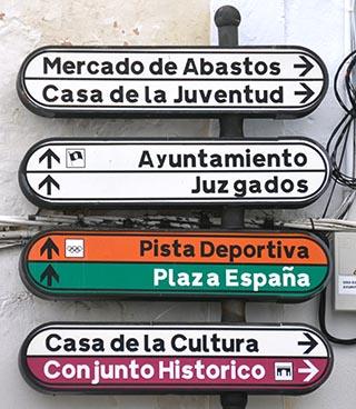 street sighn Vejer de la Frontera spain