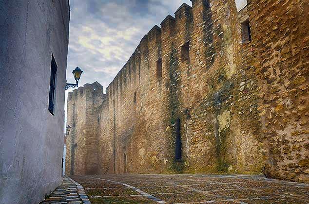 castle wall Vejer de la Frontera