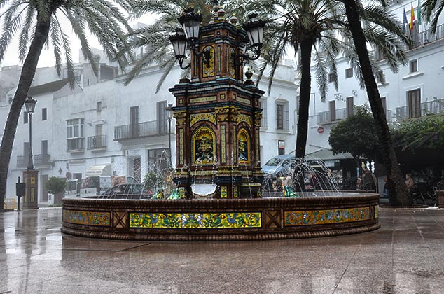 fountain in Vejer de la Frontera