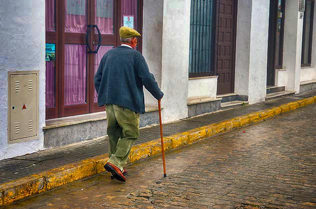 man with cane Vejer de la Frontera spain
