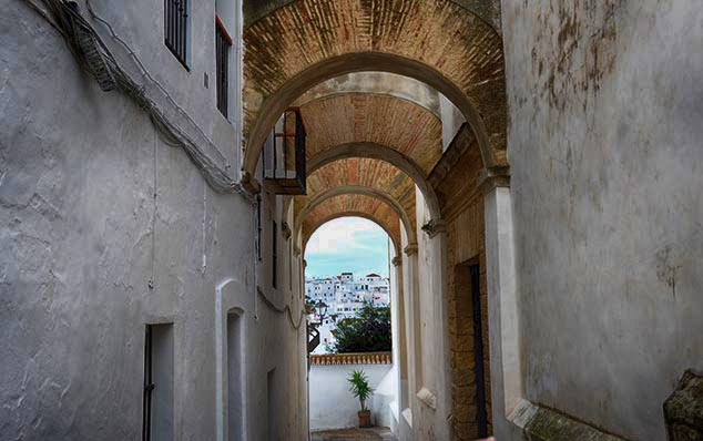 street arches Vejer de la Frontera spain