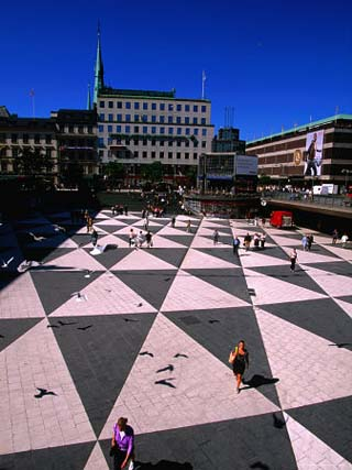 Stockholm's Infamous Sergels Torg in the Centre of Norrmalm, Stockholm, Sweden