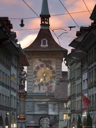 Clock Tower, Bern, Berner Oberland, Switzerland