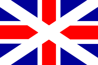 Early Scottish Variation of United Kingdom Flag