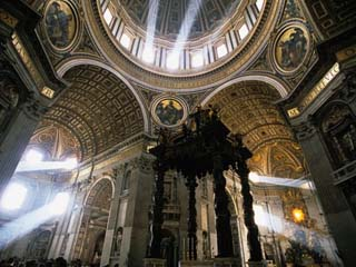 Shafts of Light Inside St. Peter's Basilica