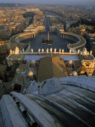 Piazza San Pietro as Seen from the Dome of Saint Peter's Basilica, Vatican City