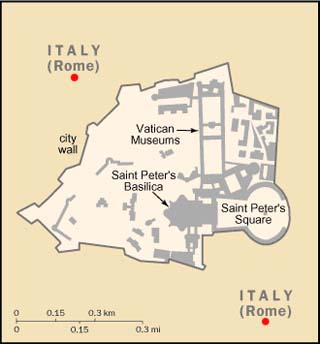 Vatican latitude and longitude map