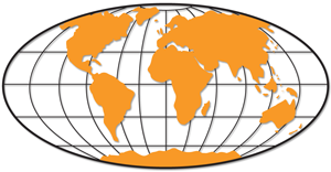 Orange Lat Long Globe