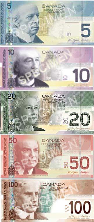 canada currency bills