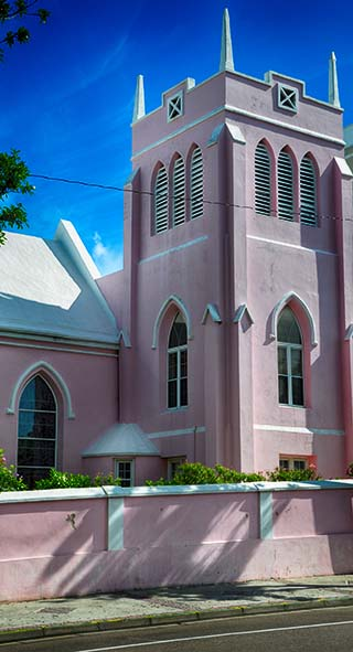 pink church bermuda