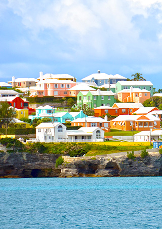 colorful houses bermuda