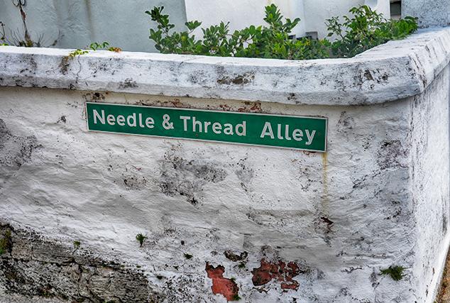street sign in bermuda