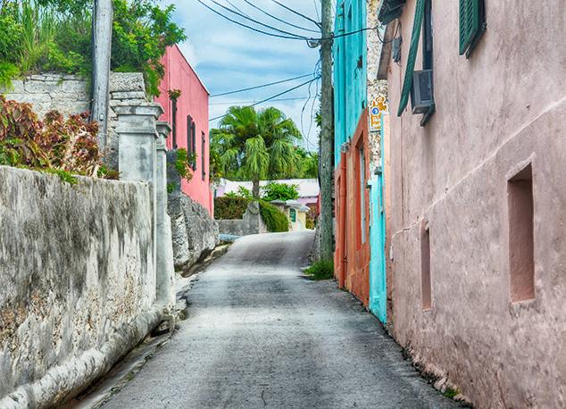 colorful walls in bermuda