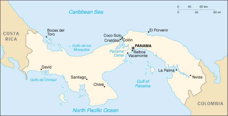 panama cia map official map of panama central america