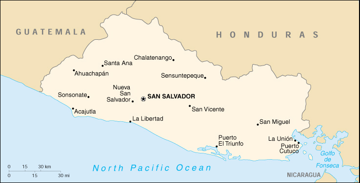 El salvador cia map map of el salvador el salvador map world costa rica map gumiabroncs Image collections