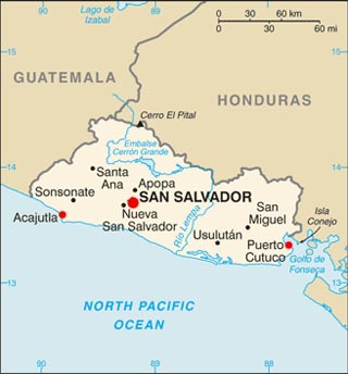 Salvador City World Map