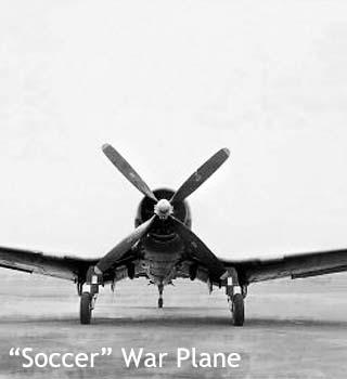 soccer war plane