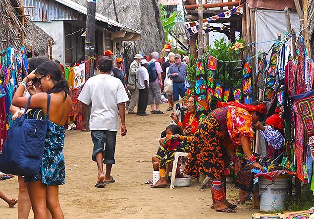 village street san blas islands