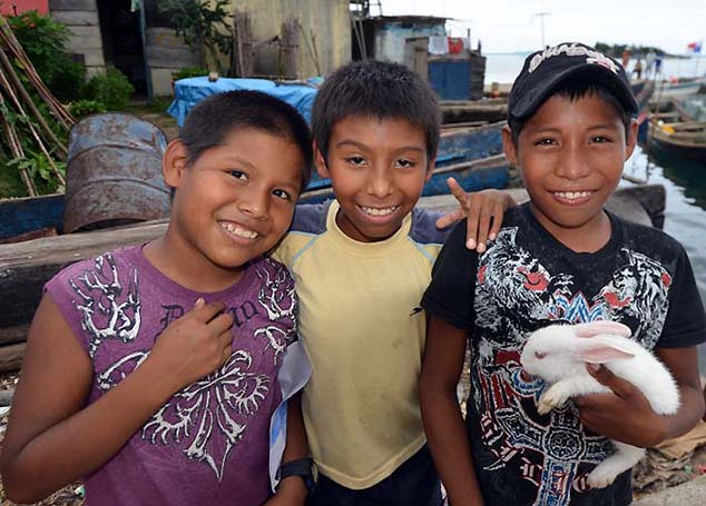 boys in the san blas islands