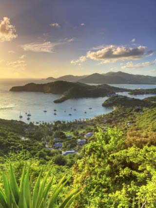 Caribbean, Antigua and Barbuda, English Harbour from Shirley's Heights