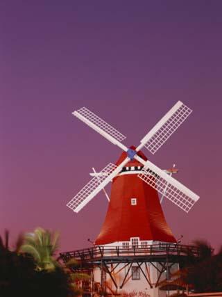 The Mill Resort Against Pink Sky, Oranjestad, Aruba