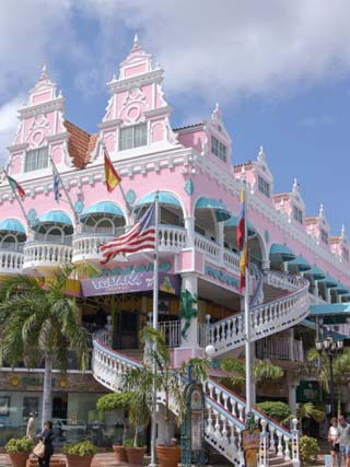 Dutch Architecture of Oranjestad Shops, Aruba, Caribbean