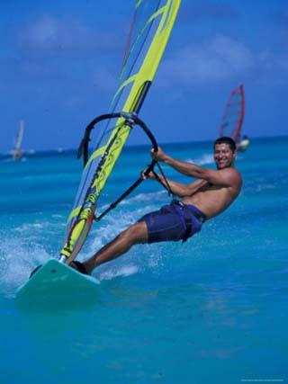 Windsurfer, Aruba, Caribbean
