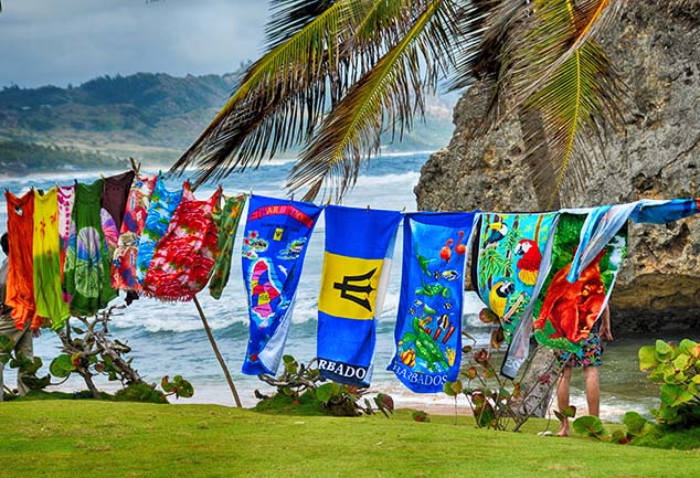 beach towels barbados