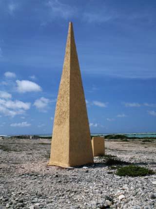 Navigational Obelisk Salt Flats Bonaire, Netherlands Antilles