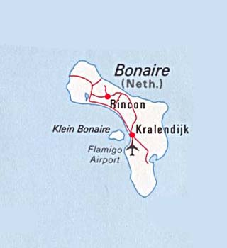 Bonaire latitude and longitude map