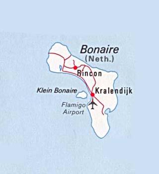 Bonaire latitude and longitude map
