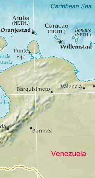 Bonaire map