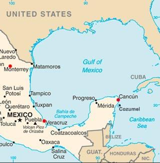 Cancun Latitude Longitude And Relative Location Hemisphere - Map of us cities with latitude and longitude