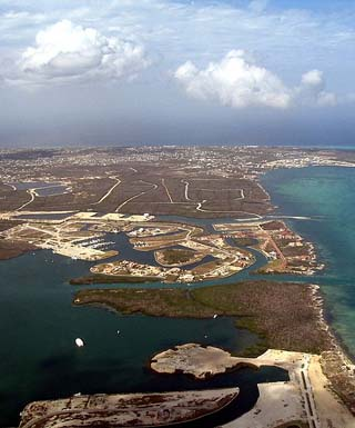 arial view of caymans